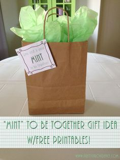 Mint Themed Gift Ideas with Free Printable Tags! These ideas are so cute! I love the neighbor one and the new mom one! All with free printable tags!