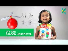 Baloon Helicopter : DIY Make your Own Helicopter using a Baloon and 3 Blades baloon helicopter - YouTube