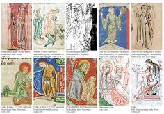 """Dress images, 12th century medieval dress. medievalandmore.blogspot.com While these are all under the heading """"bliaud"""", I think it's a mix of cotes, possibly a pelice, and a couple of bliauts.  People mix these up a lot."""