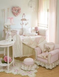 Shabby chic nursery.