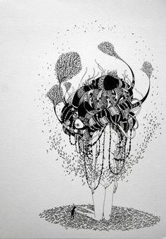 poetic brazilian illustration by Herbert Baglione