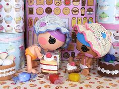 Sew. Cute. Bonnet babies (lalaloopsy littles) by biscuitbear, via Flickr #Lalaloopsy #Lalagraphy