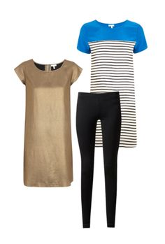 Leggings and a tunic are an easy, flattering look if worn right -- just make sure your top isn't too short!