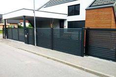 Door Gate Design, Driveway Entrance, Sliding Gate, Black Fence, Real Plants, Decorating Blogs, Outdoor Gardens, Garage Doors, New Homes