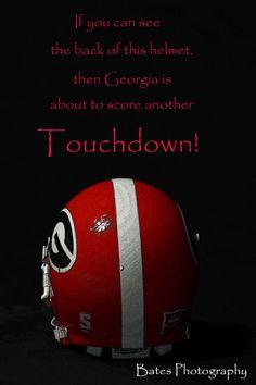 Georgia football scoring touchdowns by Colton2CarolinaPhoto, $35.00
