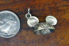 Sterling Silver 3-D Antiqued Firemans Hat W//Lobster Clasp Charm