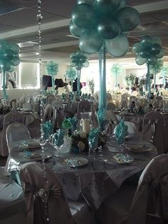 teal quinceanera ideas #quinceanera #decorations #salon