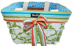 i'm going to make my own bicycle basket liner but this one is WAY cute if you have the money! $59