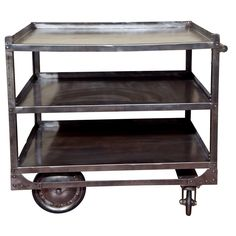 Industrial Steel Cart - for holding paint and brushes? china?    #1stdibs #industrial