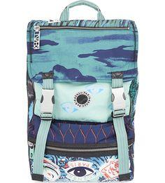 KENZO Multi-print backpack (Mint