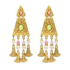 Finesse Gold & opal crystal arrowhead chandelier earrings- at ...