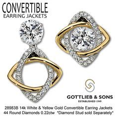 Jewelers from across America voted on their favorite jewelry in different categories and Gottlieb & Sons' convertible earring jackets WON two years in a row! Description from pinterest.com. I searched for this on bing.com/images