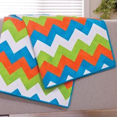Chevron Quilt Pattern | Cut Time Quilting - Chevron Quilt Pattern & Cutting Die Package ...