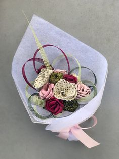 Picture Floral Wedding, Wedding Flowers, Flax Weaving, Flax Flowers, Gift Bouquet, Maori Art, Floral Arrangements, Diy Crafts, Crafty