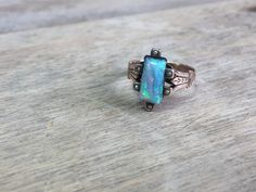 Victorian Opal 14K seed pearl ring by VictoriaVVintage on Etsy