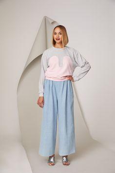 Photographer: Paavo Lehtonen Model: Kriselda Mustonen Trousers, Pants, Different Styles, Comfy, Classic, Model, Sweaters, Fashion, Trouser Pants