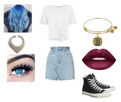 """A.S"" by mirandastrife on Polyvore featuring Boohoo, RE/DONE, Lime Crime, MINX and Converse"
