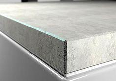 Küchenarbeitsplatte betonoptik  Die Küchen-Arbeitsplatte in der Beton-Optik, haben wir aus Kerdi ...