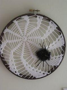 crochet spider web doily