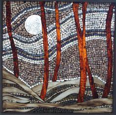 Winter wonderland by Emerald Dragon    #mosaic #trees #art