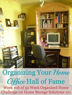 Organizing your home office hall of fame, including ideas of converting various areas of your home into a home office {on Home Storage Solutions 101}