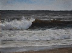 Edward Minoff, Fall Wave Study, 2013, oil on board, 6 X 8 inches