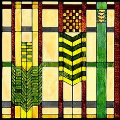 Craftsman Stained Glass Decorative Art Tile