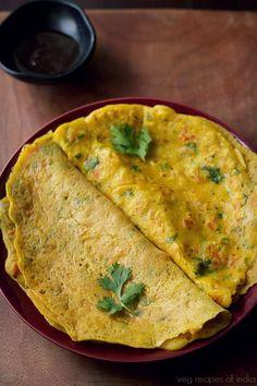 Besan Cheela recipe - savoury pancake - popular Indian street food