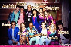 Nata, francesca, violetta, leon, camila, broday, maxi , ludmila y Marco