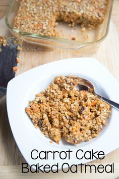 Carrot Cake Baked Oatmeal Recipe ~ part of our 31 Days of Breakfast Recipes Series   5DollarDinners.com