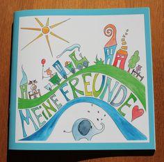 Freundebuch Kindergarten von portrait-werk auf DaWanda.com Kids Rugs, School, Etsy, Portrait, Crafting, Financial Statement, Ideas, Kid Friendly Rugs, Headshot Photography
