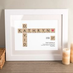 Personalised Letter Tiles Print | GettingPersonal.co.uk