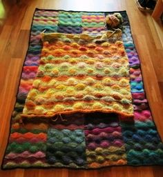 Godzilla Ridge is a giant version of a Noro blanket.  I am not sure I would do it, but it is interesting