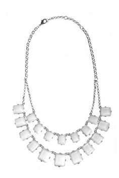 Type 4 Polished Ice Necklace: this stunning necklace features pendants of icy white faceted gems in silver colored settings and has matching earrings.      16-18 inches adjustable     Trigger Clasp  #type4 #dressingyourtruth #beautyprofiling