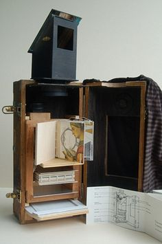 ah - books as sculpture! Camera Obscura