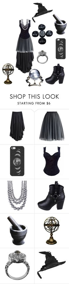 """""""The Grey Witch"""" by samanthapina-1 ❤ liked on Polyvore featuring Chicwish, Casetify, Nordstrom Rack, Jeffrey Campbell, Fox Run, 21dgrs and CO"""
