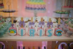 Iris baby shower rainbow