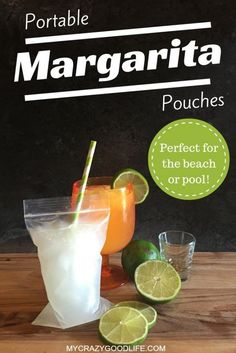 Portable margarita pouches–perfect for the beach or the pool! (yes, it's also a 21 day fix margarita!)