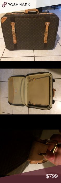 AUTHENTIC Louis Vuitton Satellite Suitcase 65 Authentic. No damage but note there is general wear and there are 4 security stickers attached and leather has wear. Louis Vuitton Bags Travel Bags