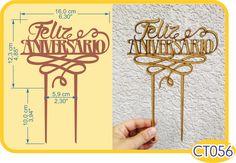 Feliz Aniversario Cake Topper. -Pedidos/InquirIes to: crearcjs@gmail.com