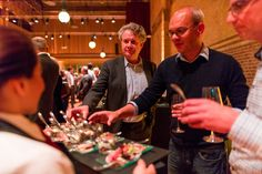 Small bites at the re-opening of the Beurs van Berlage in 2015.