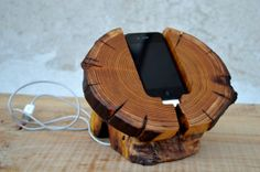 SALE Wooden iPhone Dock Station Rustic Wooden iPhone Stand Wooden iPhone Charging Station Ancient Wood Holder on Etsy, $154.52