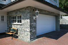 Decor, Stone Wall, Outdoor Decor, Stone, Garage Doors, Wall, Home Decor, Doors