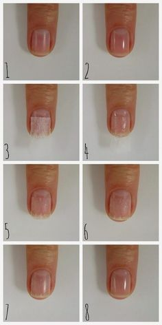Nail Care: Tea Bag Nail Patching Technique (Dahlia Nails - New Ideas Thin Nails, Strong Nails, My Nails, Black Nails, Nails After Acrylics, Acrylic Nails, Nail Care Tips, Nail Tips, Fix Broken Nail