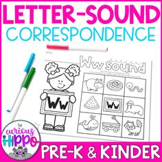 Teaching letter-sound correspondence with letter identification increases phonics understanding and reading skills. As students master letter recognition, it is just as important to have letter-sound… Teaching Letter Sounds, Teaching Letters, Beginning Sounds Worksheets, St Patrick Day Activities, Kindergarten Language Arts, Letter Identification, Vowel Sounds, Letter Recognition, Reading Skills
