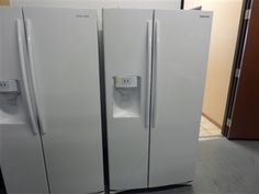 Samsung White Side-by-Side Refrigerator only $799.88! Model #RS261MDWP