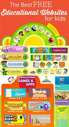 The Best Free Educational Websites for Kids - Everything from ABCs to Counting, Reading, Math and Geography! So many great resources and all FREE! # online educational games Best Free Educational Websites for Kids! Educational Websites For Kids, Educational Activities, Educational Technology, Preschool Activities, Kids Websites, Preschool Websites, Preschool Online Games, Parenting Websites, Teaching Resources