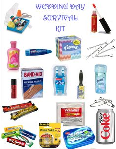 I love this wedding survival kit