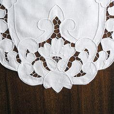 Cutwork Linen Guest Towels Aqua Gray Vintage Hand Embroidery - Google Search