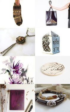 Purple and Friends by Julia on Etsy--Pinned with TreasuryPin.com